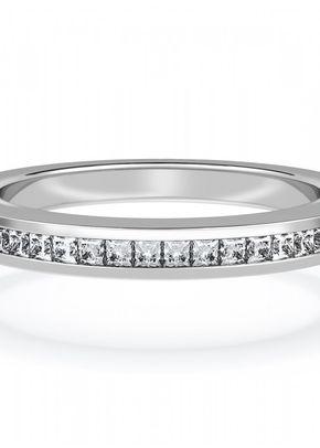 Diamond Set Wedding Ring with Princess Diamonds in Platinum, House of Diamonds