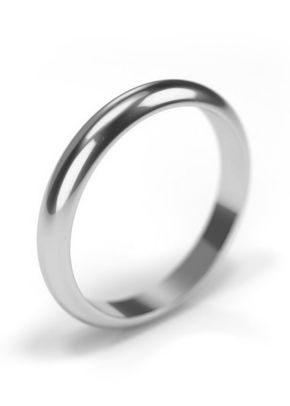 Platinum 950 Wedding Ring 3mm Band, House of Diamonds