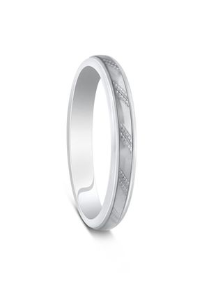 Two Colour Palladium 950 & Argentium Silver Angular Cut Wedding Ring, House of Diamonds