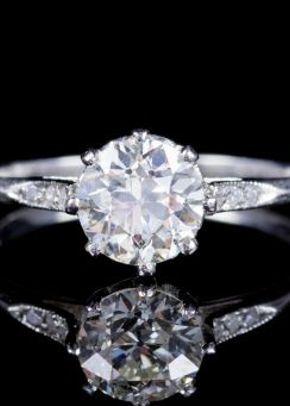 Antique Edwardian Old Cut Diamond Engagement Ring Circa 1910, Laurelle Antique Jewellery