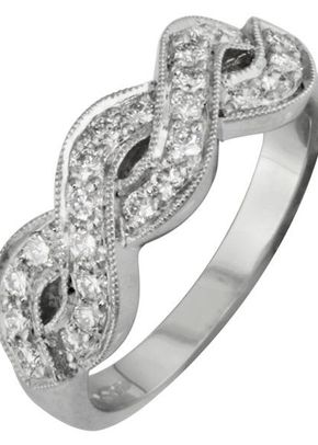 Diamond Twist Ring, London Victorian Ring Co