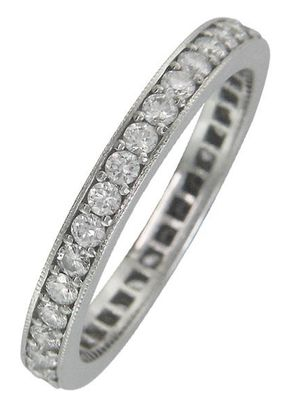 Vintage Style Diamond Wedding/Eternity Ring, London Victorian Ring Co