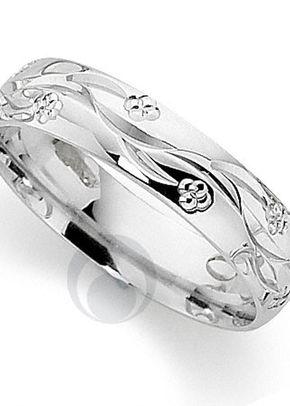 Flowered Design Platinum Wedding Ring, The Platinum Ring Company