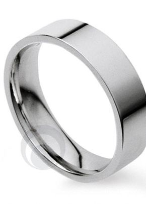 Plain Flat Court Platinum Wedding Ring 2, The Platinum Ring Company