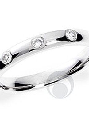Traditional Diamond Platinum Wedding Ring, 1103