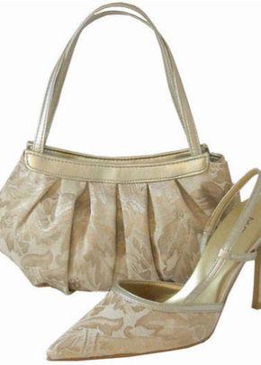 Menbur Champagne Gold Brocade Shoe, Sole Divas