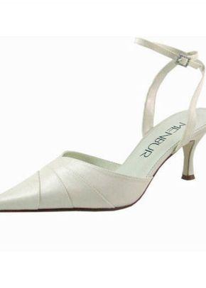 Menbur Ivory Satin Shoes with Diamante, 809