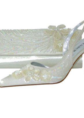 Menbur Ladies Shoes in Ivory Satin & Sequins, 809
