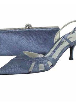 Menbur Peacock Blue Satin Shoe, 809