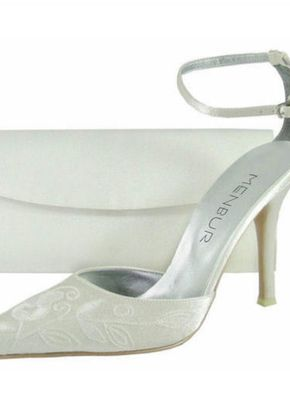 Menbur shoes in ivory satin and emboidery, 809