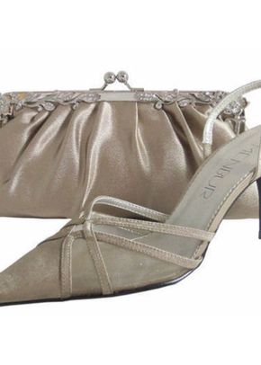Menbur Taupe Satin Shoe, 809