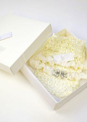 Fae Garter - Ivory, Britten Bridal Garters