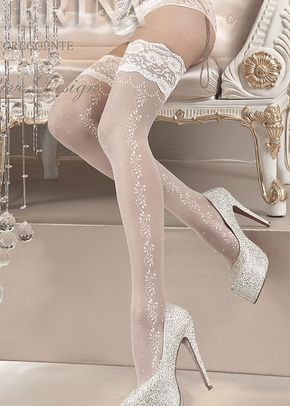 Ballerina Hold Ups Bianco, Butterfly Corsets
