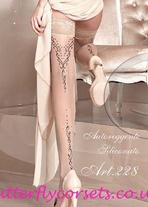 Ballerina Hold Ups Skin, Butterfly Corsets