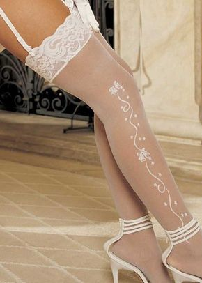Wedding Bell Sheer Bridal Stockings, Butterfly Corsets