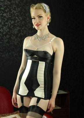 Marlene Girdle (black/peach), Queen Annes Lace