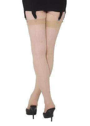 Retro Seamed Stockings (champagne), Queen Annes Lace