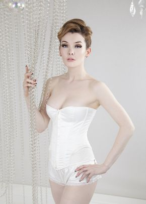 Vintage Stitch Corset in Ivory, Queen Annes Lace