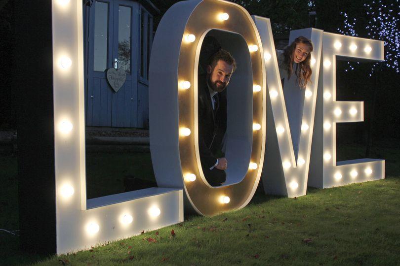 Gigantic LOVE letters
