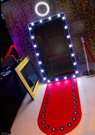 Photo booth with red carpet