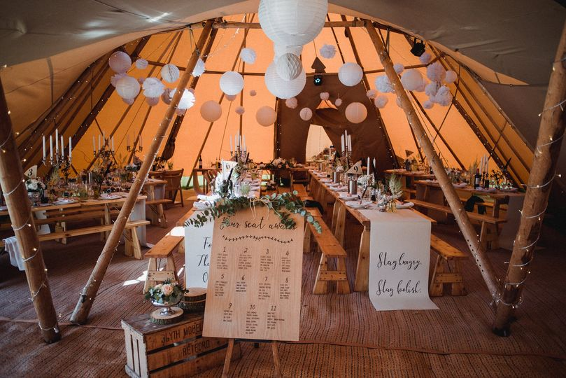 Tipi interior by day