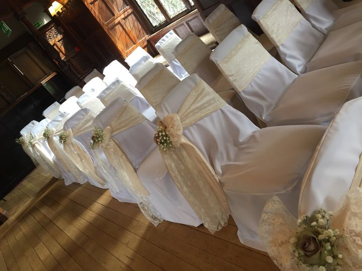 Chair Covers with Pew End Deco