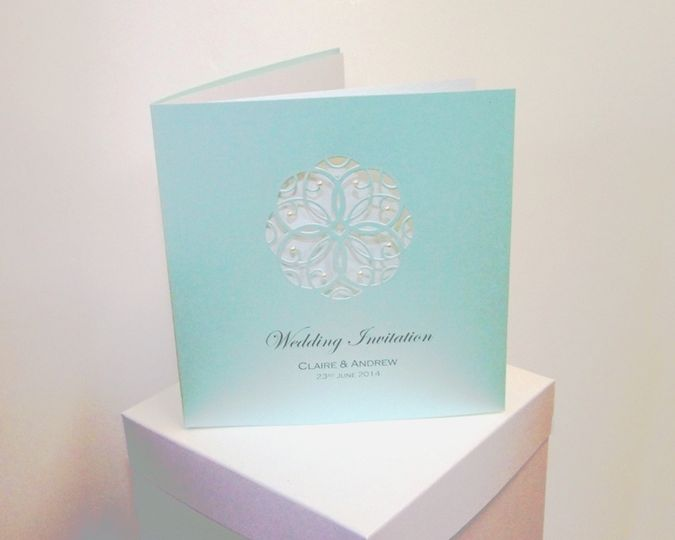 Doily die cut with pearls