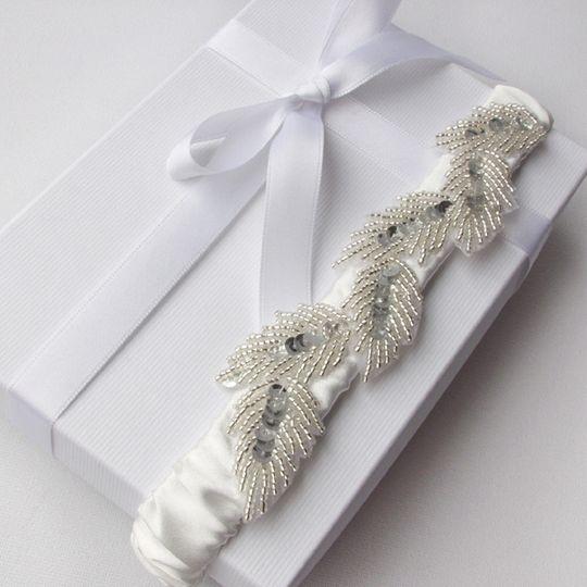 Athena Goddess Silk Satin Bridal Garter