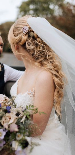 Bridal half up soft curls
