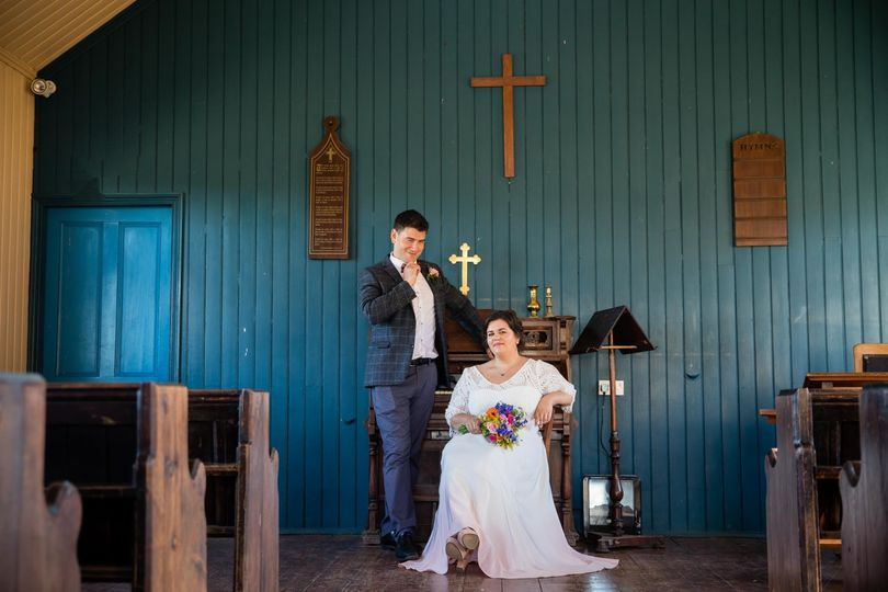 At the wedding venue - Laura Ellen Photography