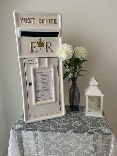 Setup for wedding signing page