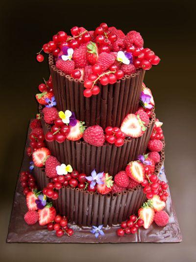 Dark chocolate and berry