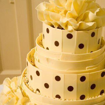 spotty white chololate wedding cake 360x360 4 110101