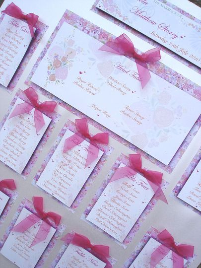Hearts & Flowers Table Plan