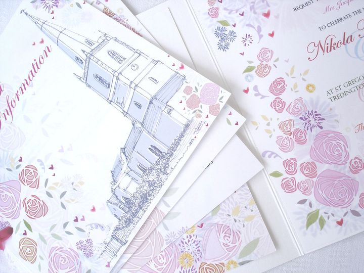 Hearts & Flowers Invitation
