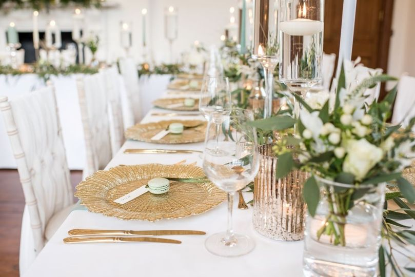 Decorative hire tablescapes