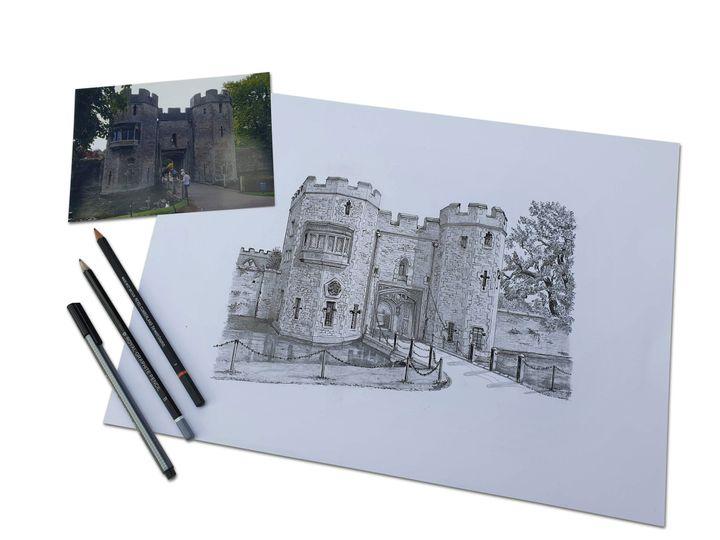 Sketch - Bishops Palace