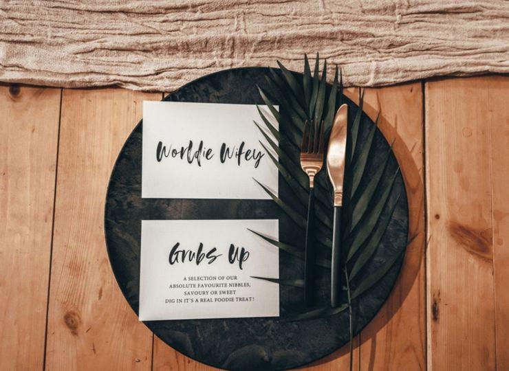 Simple and stylish wedding stationery