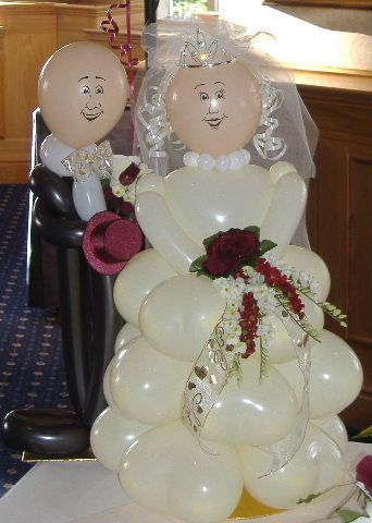 Mini Table Top Bride & Groom - Full size also available