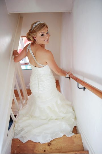 Smiling bride - Paul Burrows Photography