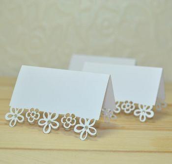 Flower laser cut place cards