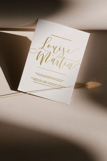 Modern calligraphy stationery