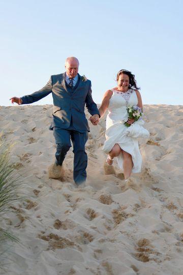 Treseren Steve and Denise sand dune run!