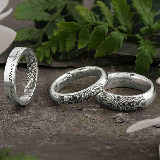 Fingerprint rings - laser