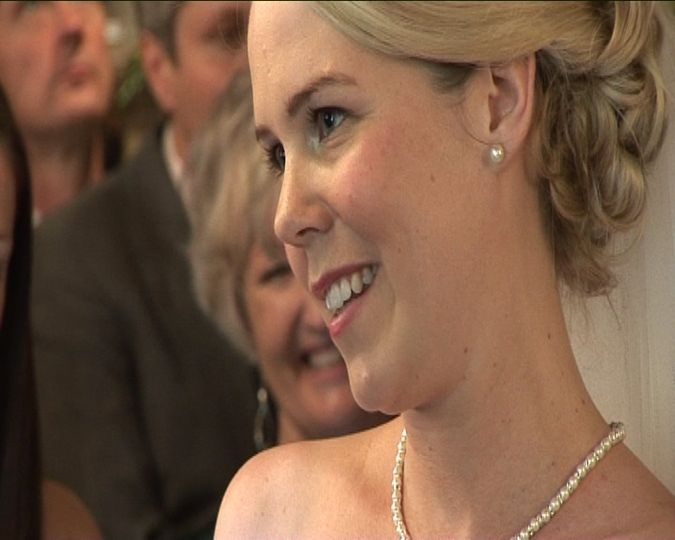 Close up during the vows
