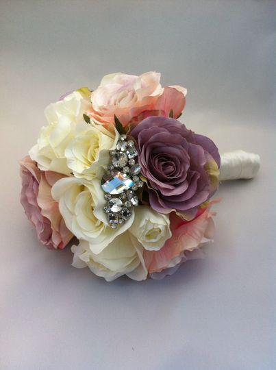 Bejewelled bridal bouquet
