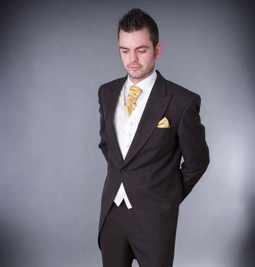 Black & gold suit
