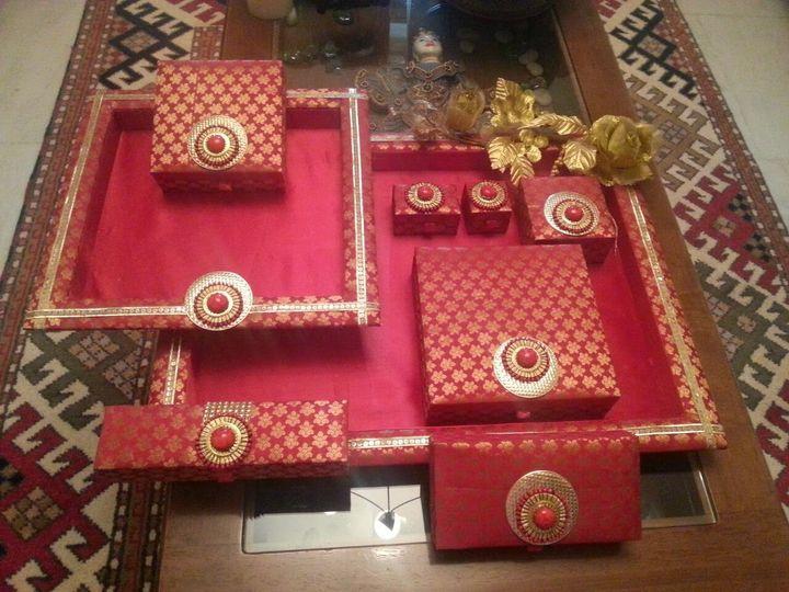 Trousseau set red fabric