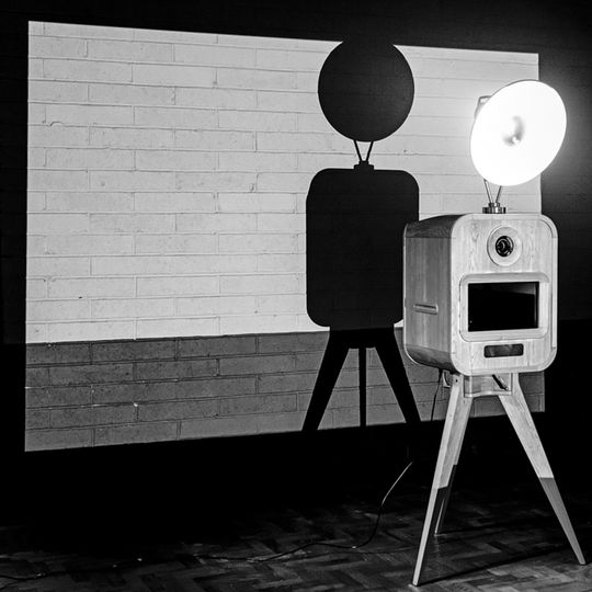 Black and white photo booth