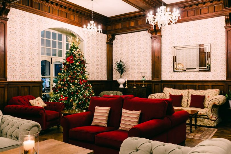 Christmas decor in lounge